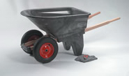 View: 5659-61 6.5 Cu Ft Two-Wheel Contractor Wheelbarrow (Unassembled)